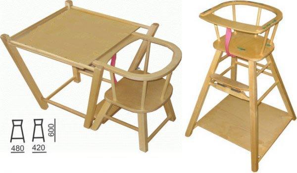 Стульчик для кормления трансформер деревянный