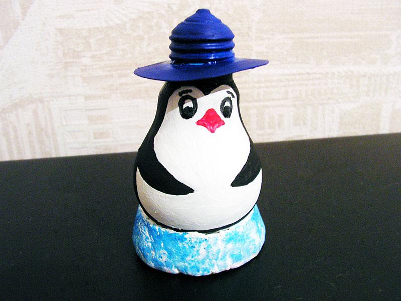 Пингвин из лампочек своими руками